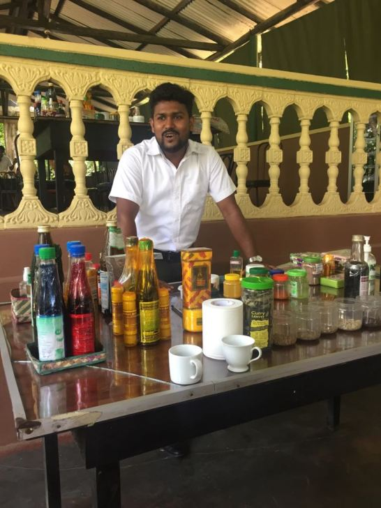 The qualified herbalist explaining his wares