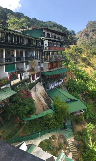 Hotel at Ella built into the steep hillside