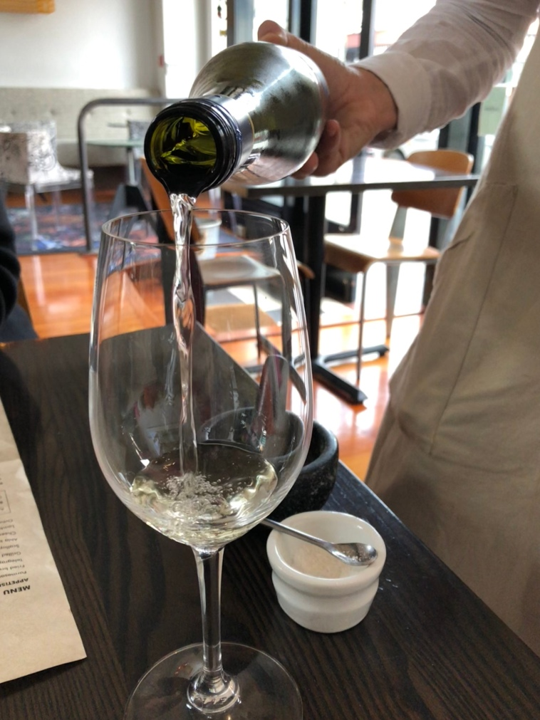 White wine number 8 - Peregrine Pinot Gris 2017, drunk at Mister D's Dining in Napier