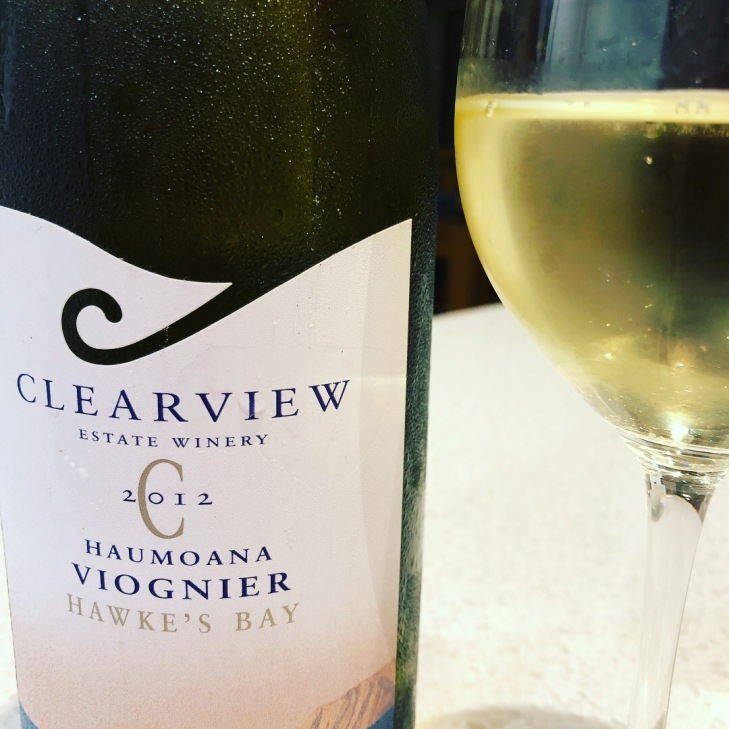 White wine number 3 - Clearview Viognier 2012, drunk at home after a very bad day