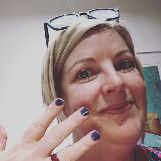 Nail polish colour number 1 - Denim Patch