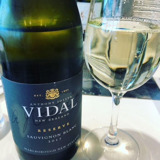 White wine number 4 - Vidal Sauvignon Blanc 2017, drunk at the Regional Air New Zealand lounge, Auckland Airport