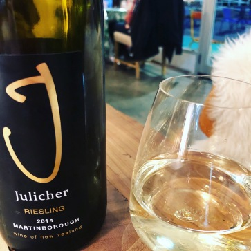 White wine number 5 - Julicher Riesling 2014, drunk at Hunger Monger in Napier