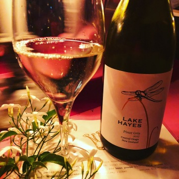 White wine number 6 - Amisfield Lake Hayes Pinot Gris 2017, drunk at Pipi's in Havelock North