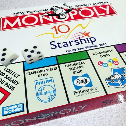 My own personal version of Monopoly NZ has arrived