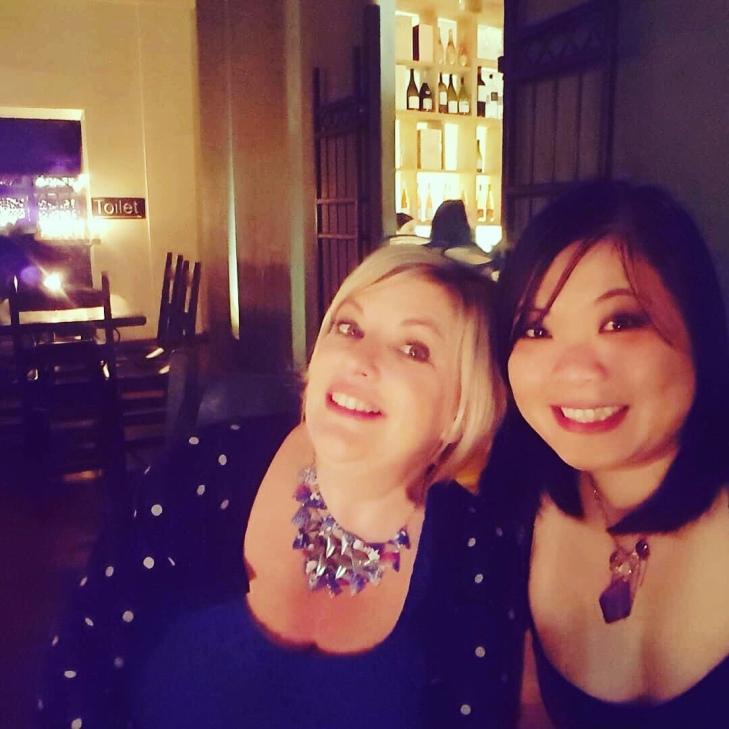 Me and my mate Rainbow at wine tasting