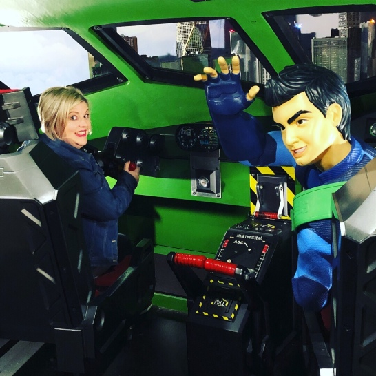 Me in the cockpit of Thunderbird 2