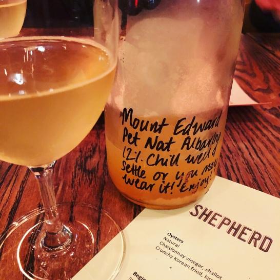 Mt Edward Pet Nat Albarino - a naturally fermented drop