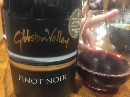 Red wine number 2 - Gibbston Valley Pinot Noir 2010, drunk at a dinner with friends