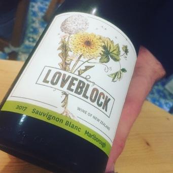 White wine number 2 - Loveblock Sauvignon Blanc 2017, drunk at Deco, Titirangi