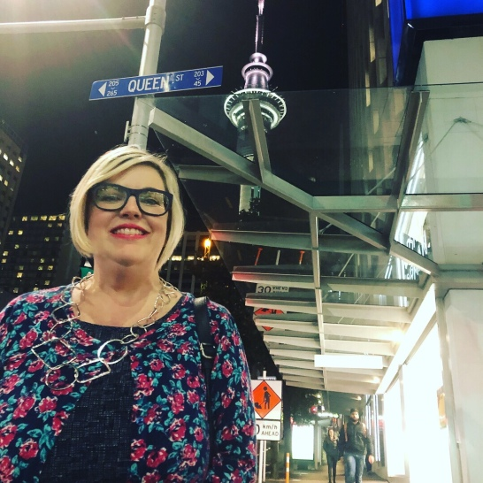 My mate Chris laid in the road to get this shot of my with both the Queen Street sign and the Sky Tower. Thankfully his wife Sarah made sure he wasn't run over!