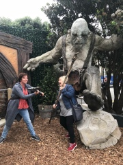 Fighting with Cate at Weta!