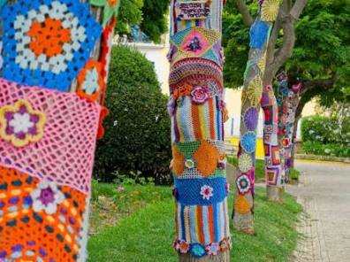 Yarn bombing - the inspiration for my trees