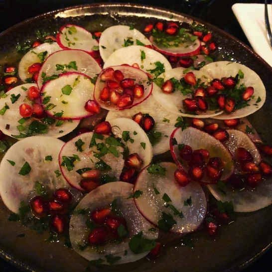 Absolutely amazing crudo at Ponsonby Road Bistro