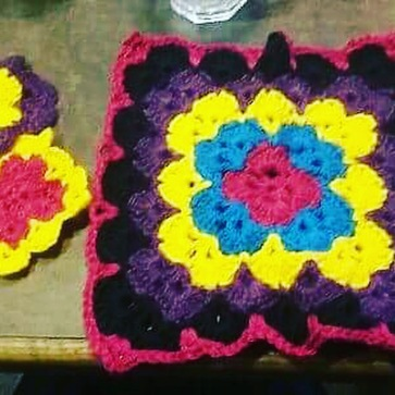 Crochet squares donated by Sarah