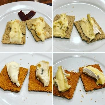 It's a camembert penguin - bottom right photo, left hand cracker...